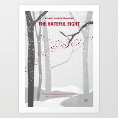No502 My Hateful eight minimal movie poster Art Print