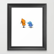 up n down show (alternate version) Framed Art Print