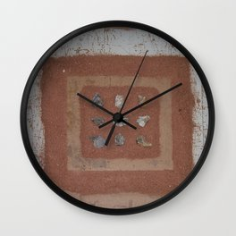 Stones and Sawdust Wall Clock