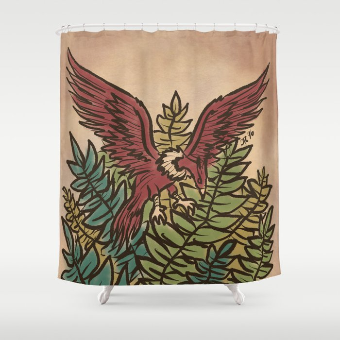 The Guardian Eagle Shower Curtain