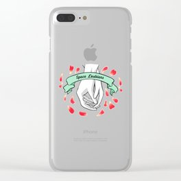 Space Lesbians Clear iPhone Case