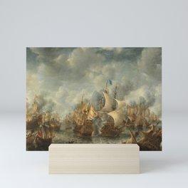 The Battle of Terheide, Jan Abrahamsz. Beerstraten, 1653 - 1666 Mini Art Print