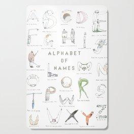Alphabet of names Cutting Board