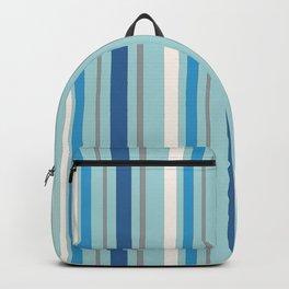 Nautical Blue Stripes Backpack