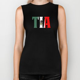 Gift For Tia Mexican Design Mexican Flag Design For Mexican Pride Biker Tank
