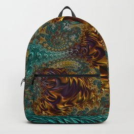 Marigold Garden - Fractal Art Backpack