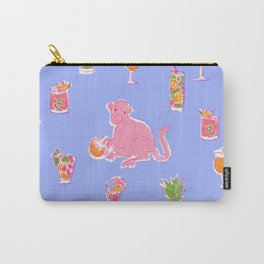 Cocktail Monkey purple Carry-All Pouch