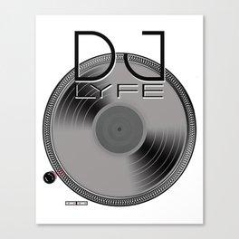 DJ LYFE turntable Canvas Print