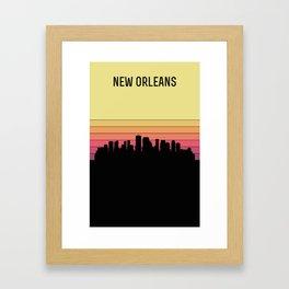 New Orleans Skyline Framed Art Print
