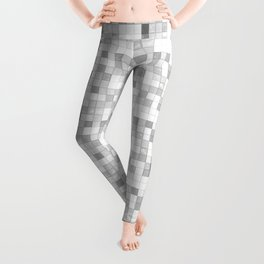Gray and White Ceramic Tiles Leggings