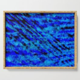 Color gradient and texture 23 dark blue Serving Tray
