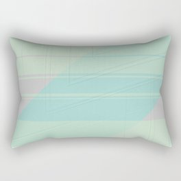 Abstract lightblue with shades of light pink Rectangular Pillow