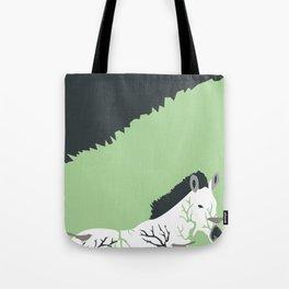 Zebra in the Woods Tote Bag