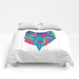 Neon Wolf Comforters