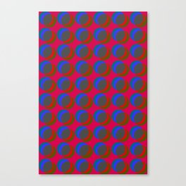 B.L.I.N.K. - optical illusion in red and blue Canvas Print