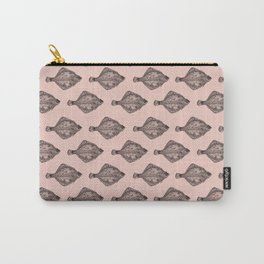 Pink flatfish pattern Carry-All Pouch