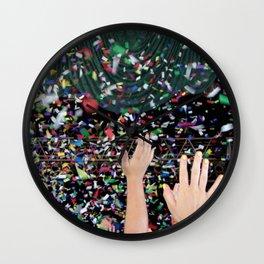 Confetti Hoorah (They Might Be Giants) Wall Clock