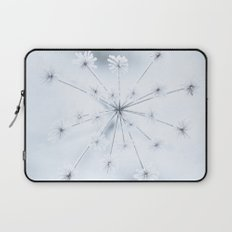 Beautiful Dry Flower with Ice Crystals Laptop Sleeve