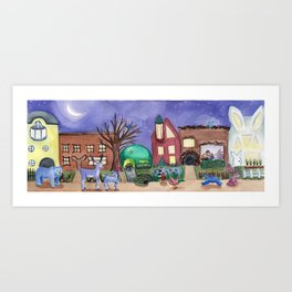 Animal Town Art Print