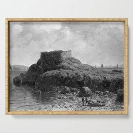 Fort Dumpling, Jamestown, Rhode Island, Narragansett Bay by George L. Clough Serving Tray