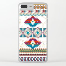 Tribal Jaquard Clear iPhone Case