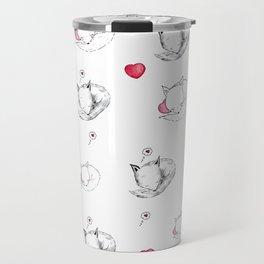 Love Fox Doodle Art Travel Mug