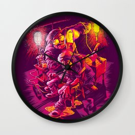 BASEMENT LOBOTOMY Wall Clock