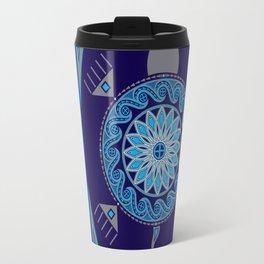 Water Turtle Blue Travel Mug
