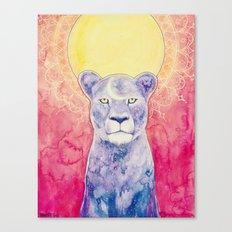 Cosmic Lioness Canvas Print