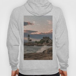 Annisquam Lighthouse sunset Hoody