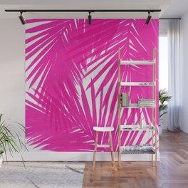 Palms Fuchsia Wall Mural