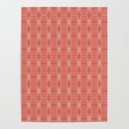 hopscotch-hex melon Poster