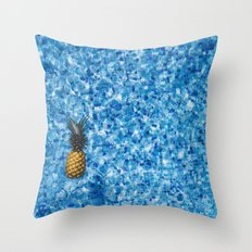 Pinapple Pool Throw Pillow