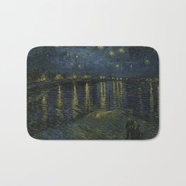 Starry Night Over the Rhone by Vincent van Gogh Bath Mat