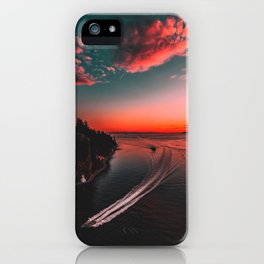 Canadian sunset #buyart #society6 iPhone Case