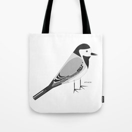 White Wagtail Tote Bag