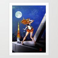 sailor venus Art Prints featuring Sailor Venus by Nelson Rodrigues