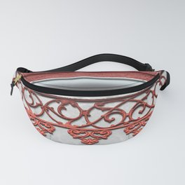 Coral Pink Wrought Iron Trim Fanny Pack