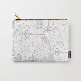 Bunny and Keys Carry-All Pouch