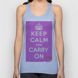 Keep Calm and Carry On Vintage worn Unisex Tank Top