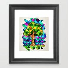 Tree Jumble Framed Art Print