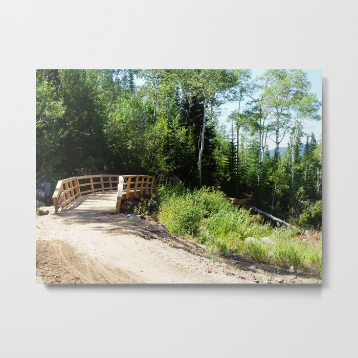Summer Bridge Metal Print