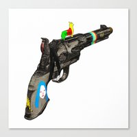 hippy Canvas Prints featuring HIPPY GUN by kasi minami