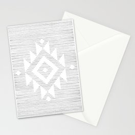 Line art folk pattern Stationery Cards