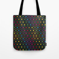 records Tote Bags featuring disco records by kociara