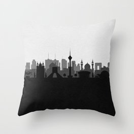 City Skylines: Tehran Throw Pillow