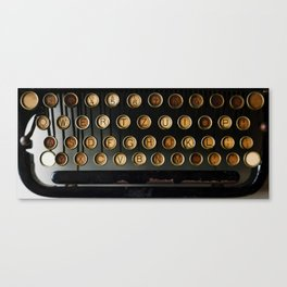 Vintage Typewriter (Color) Canvas Print
