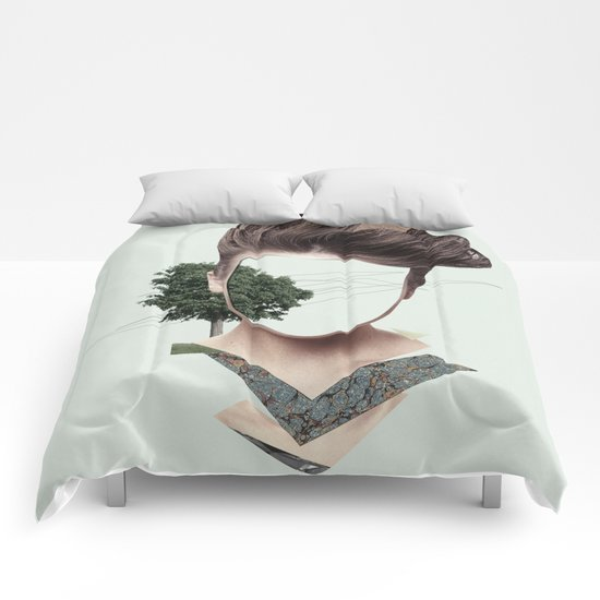 Woman Collage Comforters