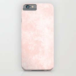 Blush Pink Coral Marble iPhone Case