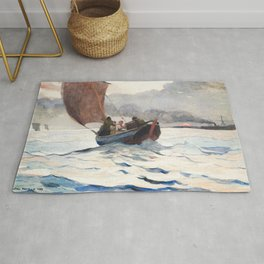 Winslow Homer - Returning Fishing Boats, 1883 Rug